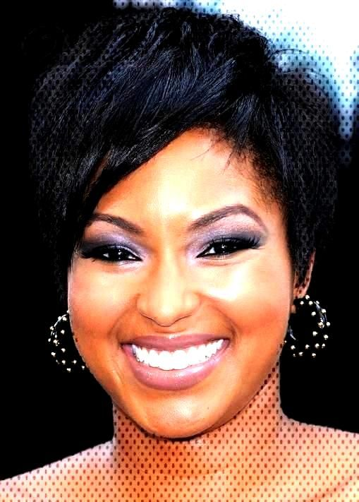 Afro American Hairstyle Short Straight 100% Human...