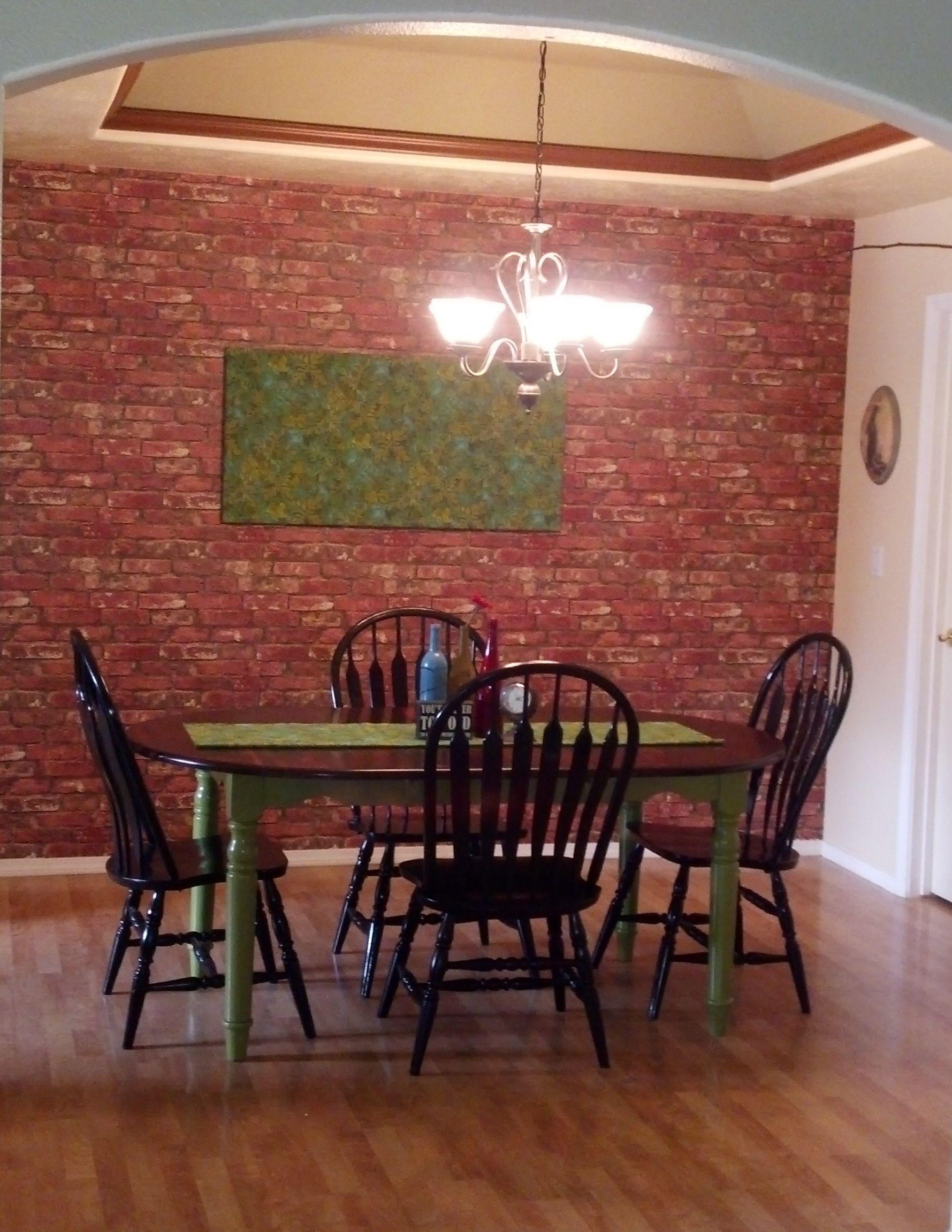 Best Faux Brick Wall Using Brick Wallpaper Believe It Or Not 640 x 480