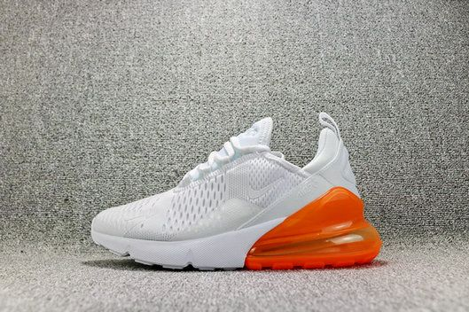 separation shoes 25bf6 31d38 Nike Air Max 270 White Pack Total Orange Casual Ah8050-102 cheap authentic  shoe websites