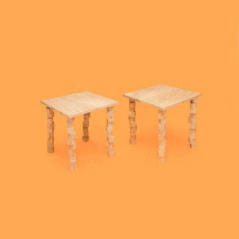 Tabouret Salomé - couleurs: naturelle - dimensions: 45x45x46cm -  matières: chêne