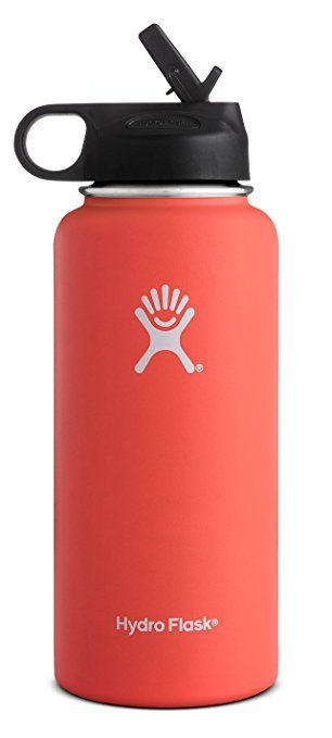 Hydro Flask Vacuum Insulated Stainless Steel Water Bottle Wide Mouth With Straw Lid Tangelo 40 Ounce Hydro Flask Water Bottle Flask Water Bottle Water Bottle
