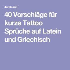 kurze tattoo sprüche latein