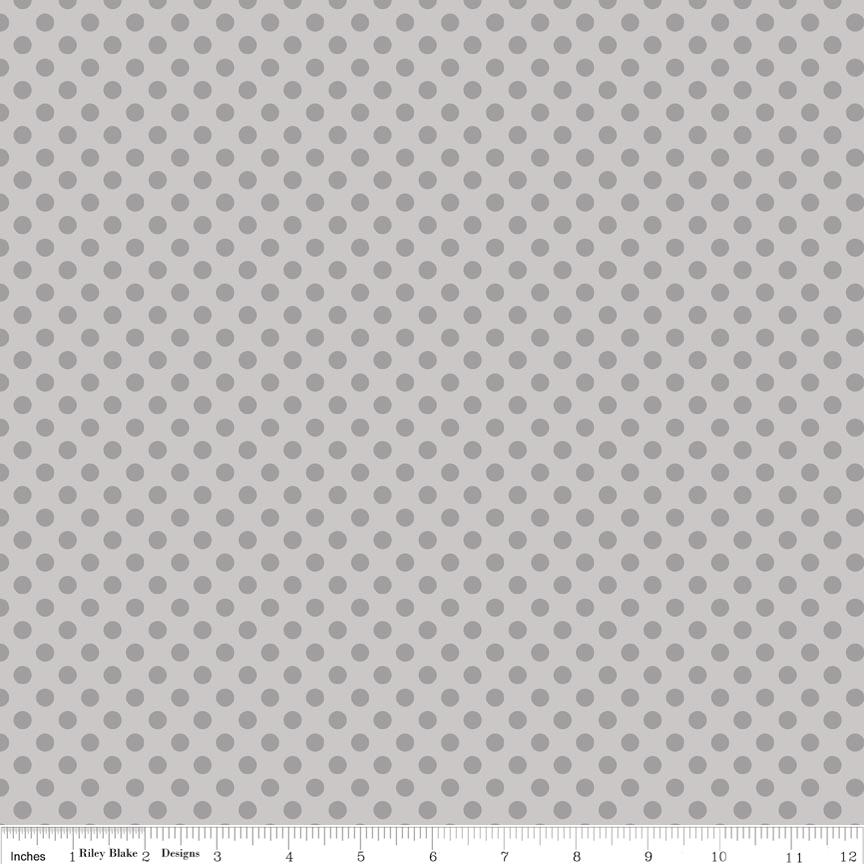 Small Dots in Tone on Tone Gray - Riley Blake House Designer