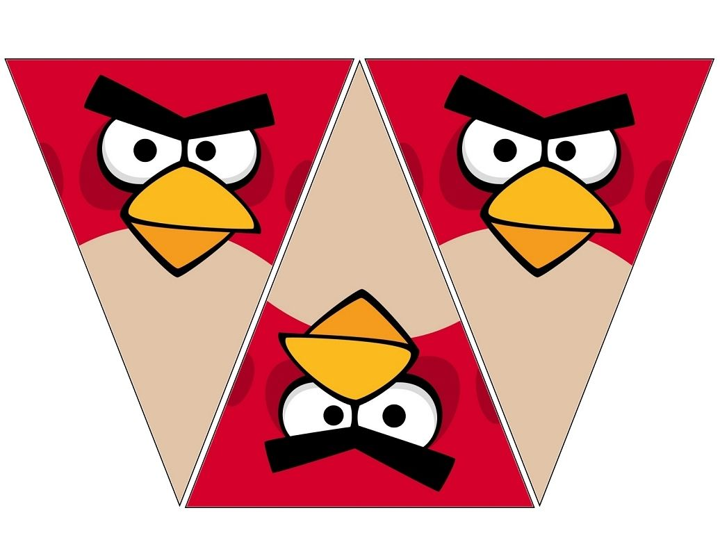 Birthday Party Ideas  C B Angry Bird Red Banner Free To Use Free To Share