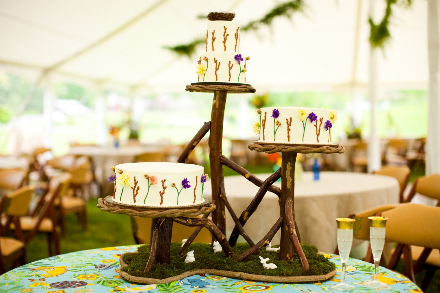 Rustic Wedding Ideas Woodland Weddings By Etsy Tiered Cake Stand Original Cakes Photo