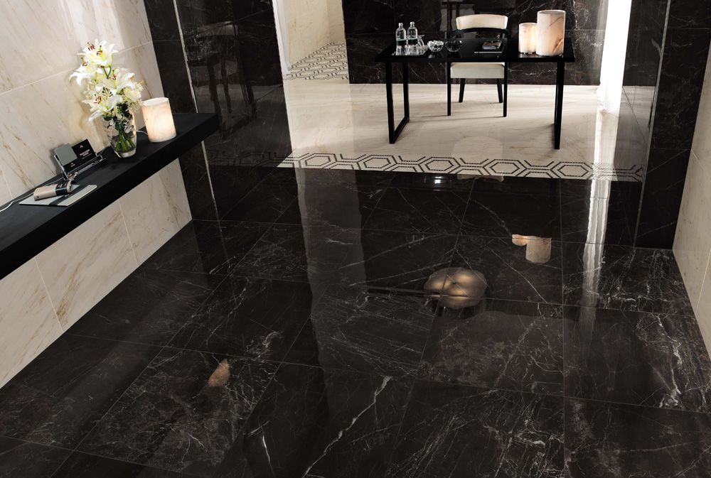 Image result for blak marble floor