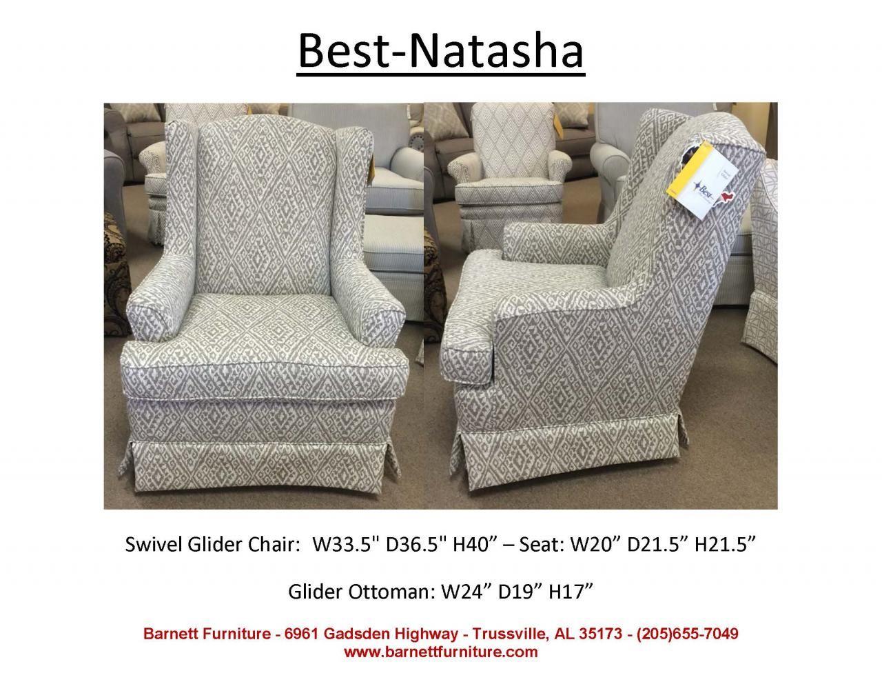 Best Home Furnishings Natasha Swivel Glider. You Choose the Fabric ...