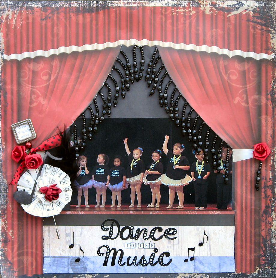 Scrapbook ideas music - Dance To The Music Swirlydoos Scrapbook Com