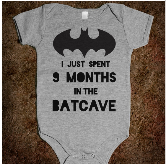 I just spent 9 months in the Batcave – Batman Onesie – GeekBabyClothes.com