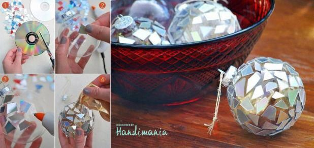 an idea what to do with all that old CDs - turn them into christmas decoration! /via facebook