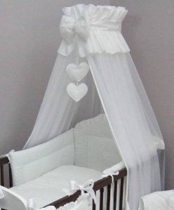 Crown Cot Canopy Mosquito Net Large Fits Baby Cot Bed Designed with Bow u0026 Hearts & Baby Cot Bed Crown Canopy / Mosquito Net 480 cm + Floor Free Stand ...