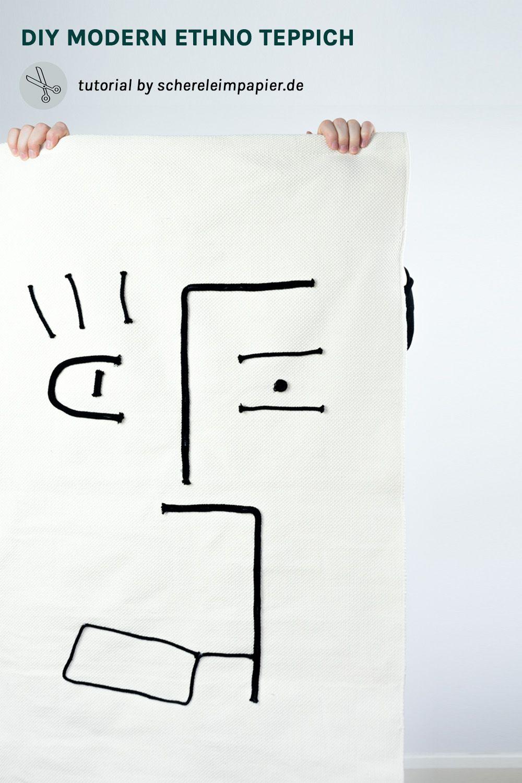 DIY Teppich Selber Machen | Auf Dem Blog Zeige Euch, Wie Ihr Einen Teppich  Selbst