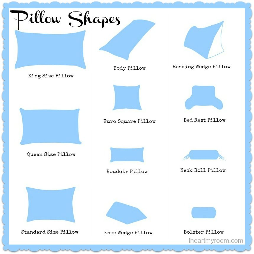 Different Decorative Pillow Types : Different Pillow Sizes Explained Different Strokes for Different Folks Pinterest Pillows ...