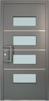 Puerta aluminio cristales 189 390 frozen for Puertas de metal modernas exteriores