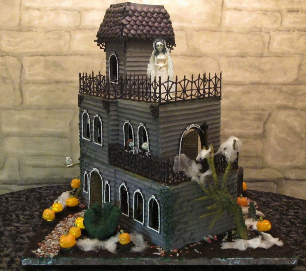 Halloween decorated mansion - Halloween Gingerbread House Pictorials How To Make Haunted Gingerbread Houses