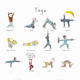 a poster of my kids yoga book images is now on sale online