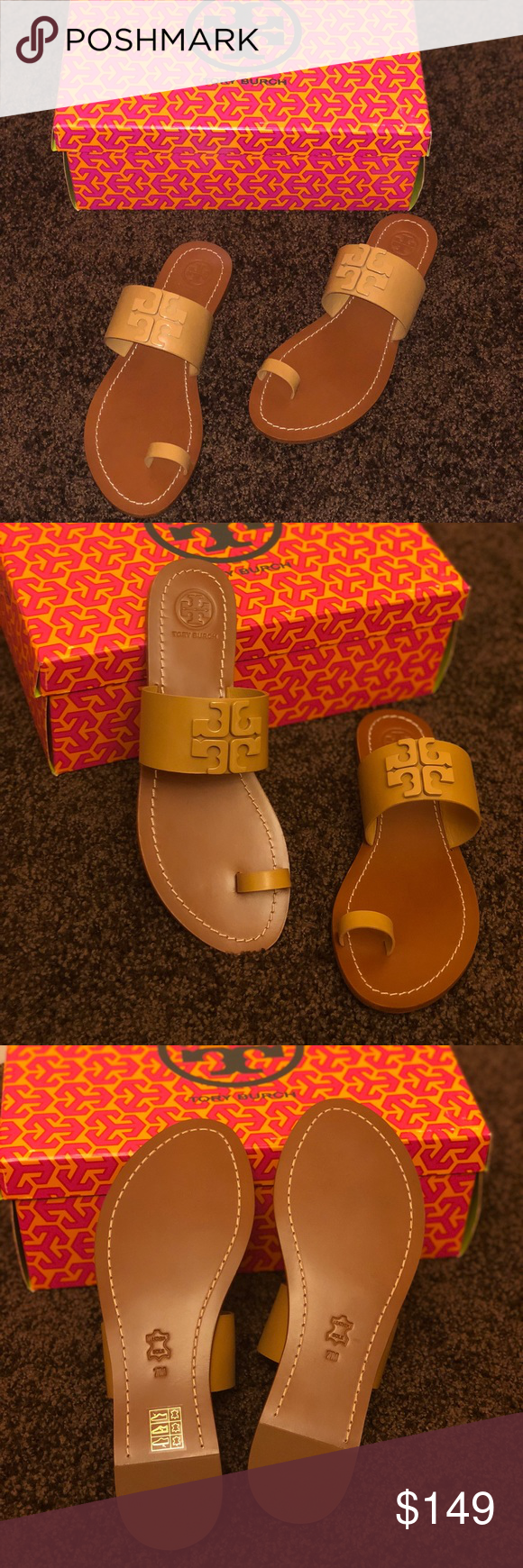 279ffdf29 Purchased directly from Tory Burch Store! Tory Burch The Lowell Flat Slide  deconstructs our double-T logo with a ...