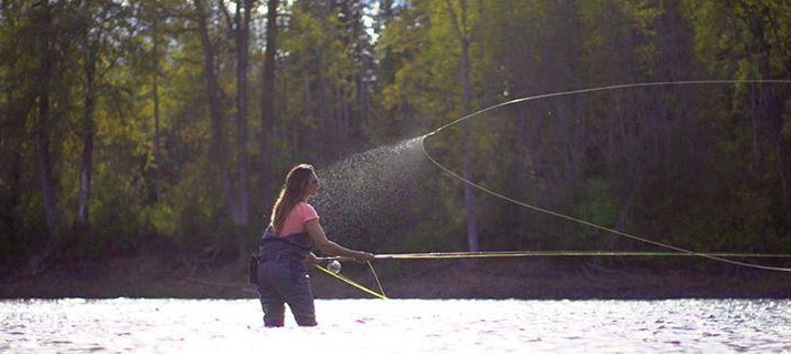 April Vokey- FlyGal Ventures.  I want to fish with April.  I would love to hear her fishing stories.