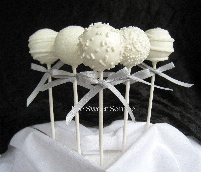 Wedding Cake Pops Ideas Cake Pop Favors Baptism Cake Pops