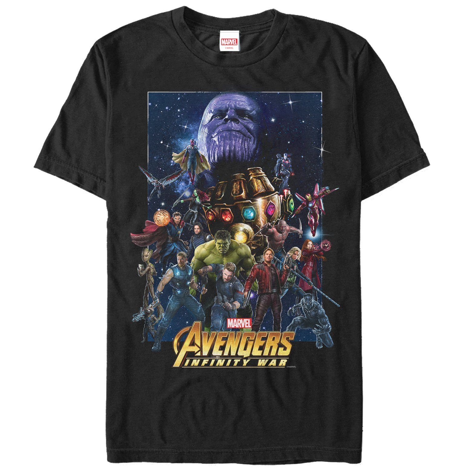 Marvel Avengers: Infinity War Character Collage Mens Graphic T Shirt