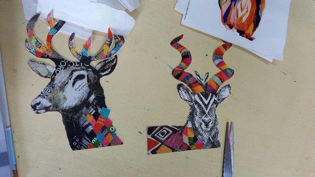 Image result for street art decoupage Street art, Moose