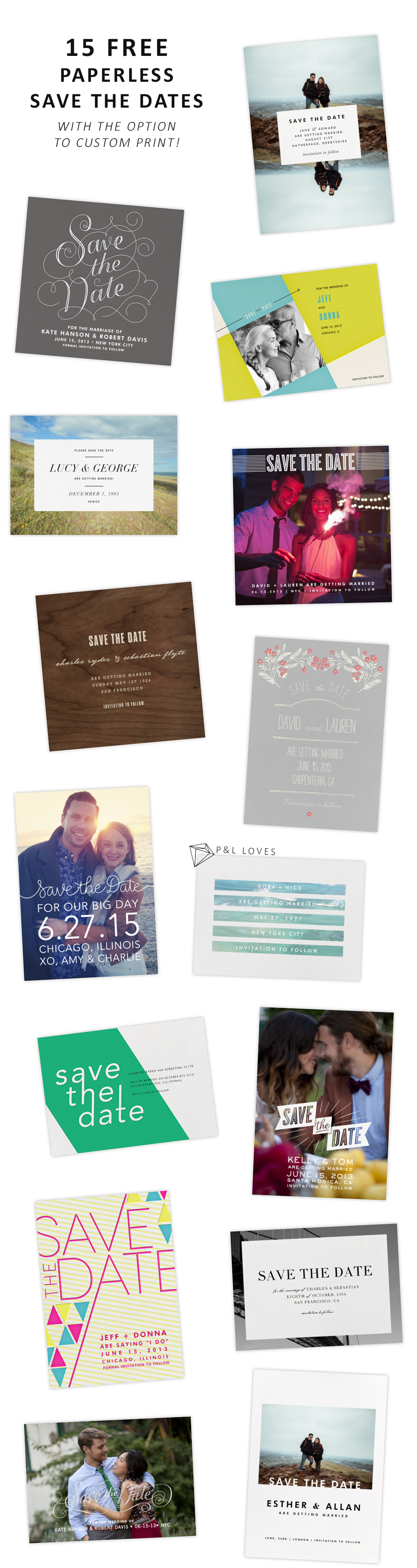15 FREE Save the Dates from Paperless Post | Wedding Free Printables ...