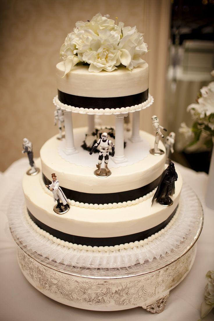 Star wars wedding cake changing the black stripe into a royal blue star wars wedding cake changing the black stripe into a royal blue stripe instead junglespirit Images