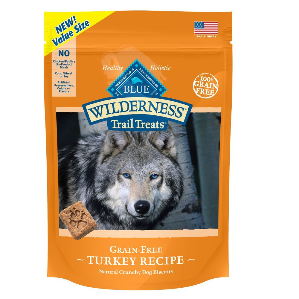 Blue Buffalo Wilderness Trail Treats Grain Free Turkey Dog