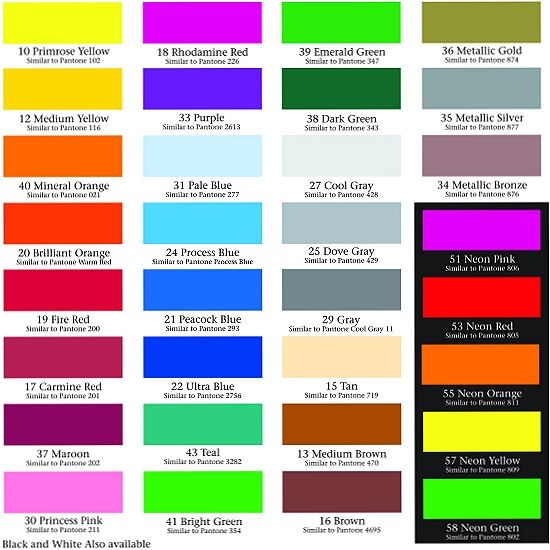 monarchdecals colorchartimagejpg Color swatches - sample pantone color chart