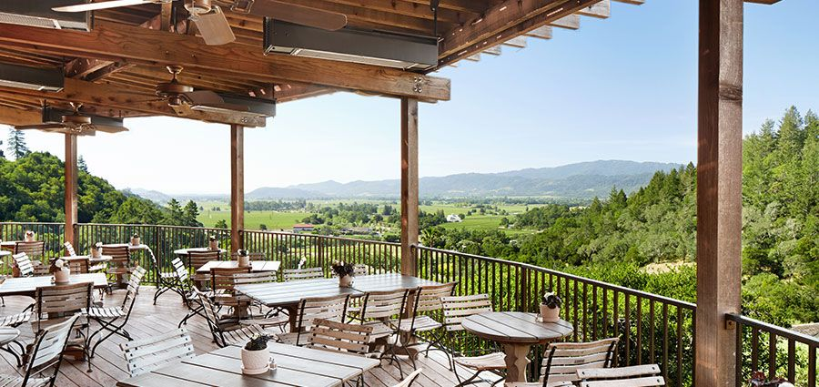 Auberge du Soleil, Rutherford. Unbeatable ambiance for a ...