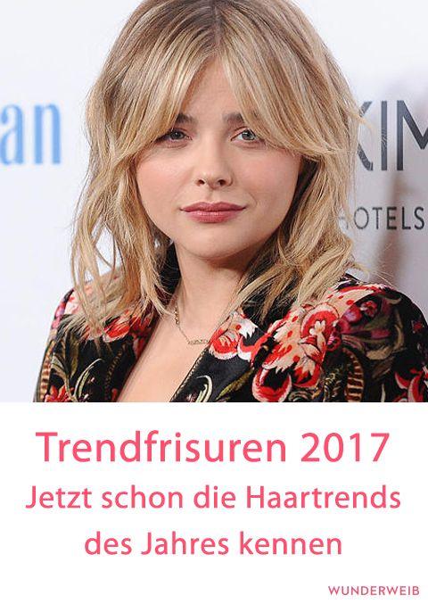 Trendfrisuren 2017 Diese Frisuren Tragen Wir 2017 Pinterest