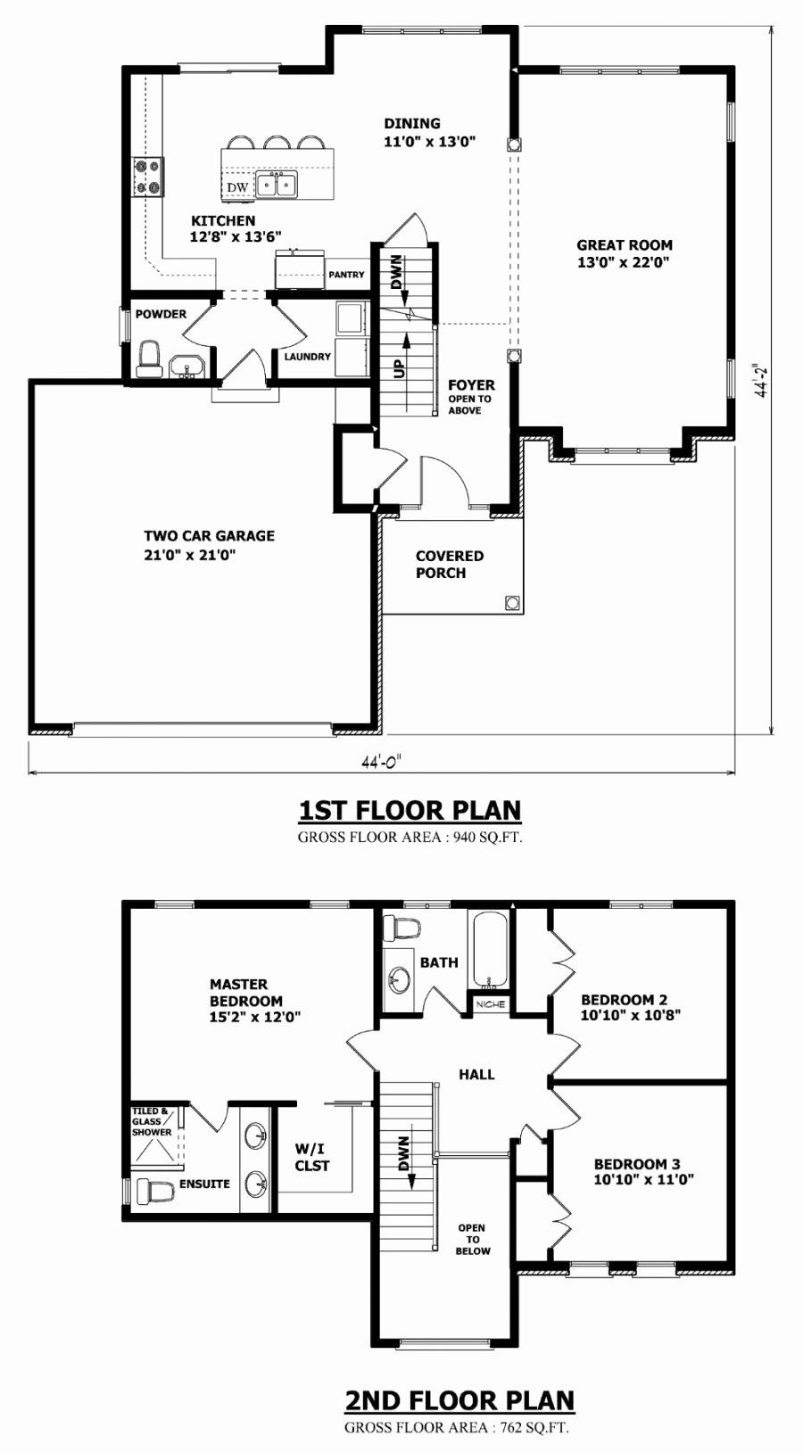 Best 2 Bedroom House Plans New Home Designs Custom House Plans Stock House Plans And In 2020 Double Storey House Plans Two Storey House Plans Two Story House Plans
