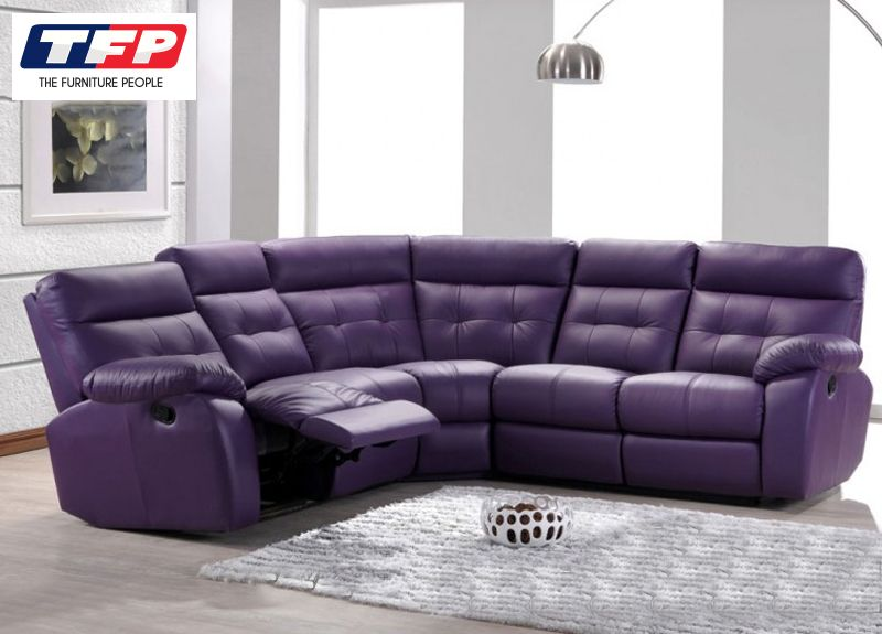 Emily 4 Seater Leather Modular Recliner Lounge Suite Sofa If