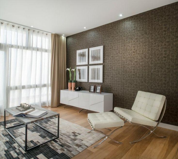Moderne Wohnzimmer braune Wand Ideen %% Seite ...