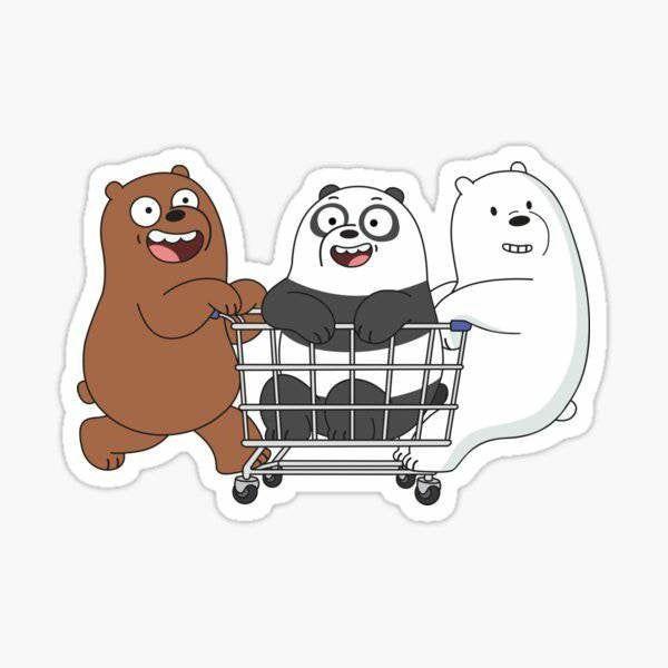We Bare Bears Stickers  | Vinyl Decal, Laptop Decal, We Bare Bears Stickers, Stickers