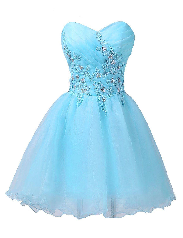 Tf queen strapless prom dresses for girls sleeveless short pretty
