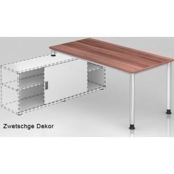Photo of Desk semi-trailer Hammerbacher H series 180 x 160 cm plum decor