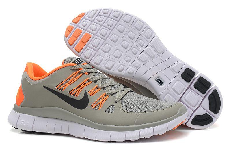 pretty nice 25a68 ad062 Nike Free 5.0+ Grey Orange Black Mens Running Shoes