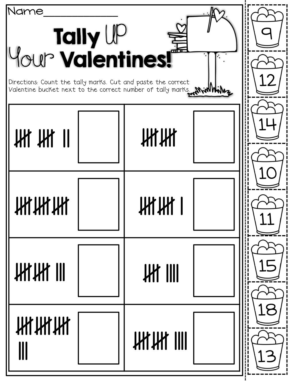 February NO PREP Packet (Kindergarten)   Tally marks kindergarten [ 1325 x 1024 Pixel ]
