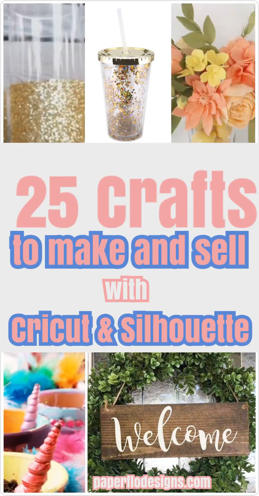 Photo of 25 Crafts to make and sell with Cricut and Silhouette