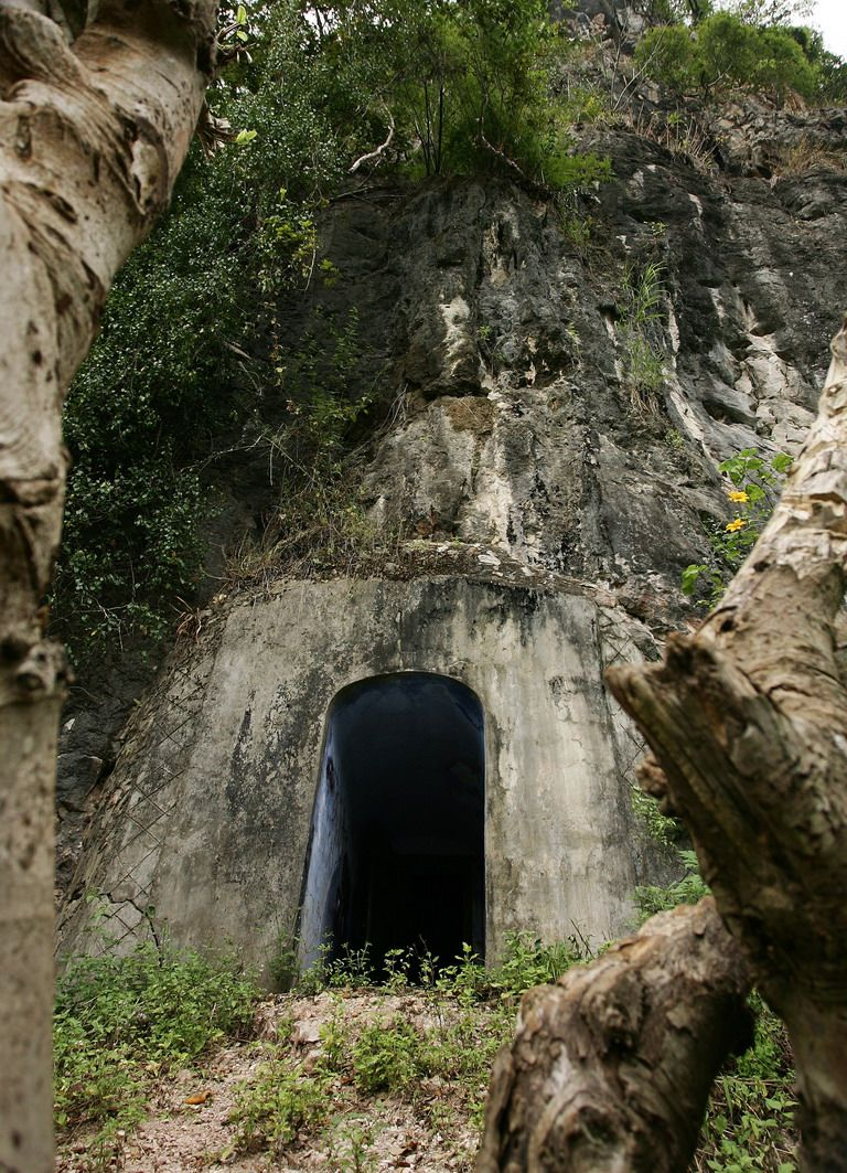 Door Into Cave (hospital In Laos)