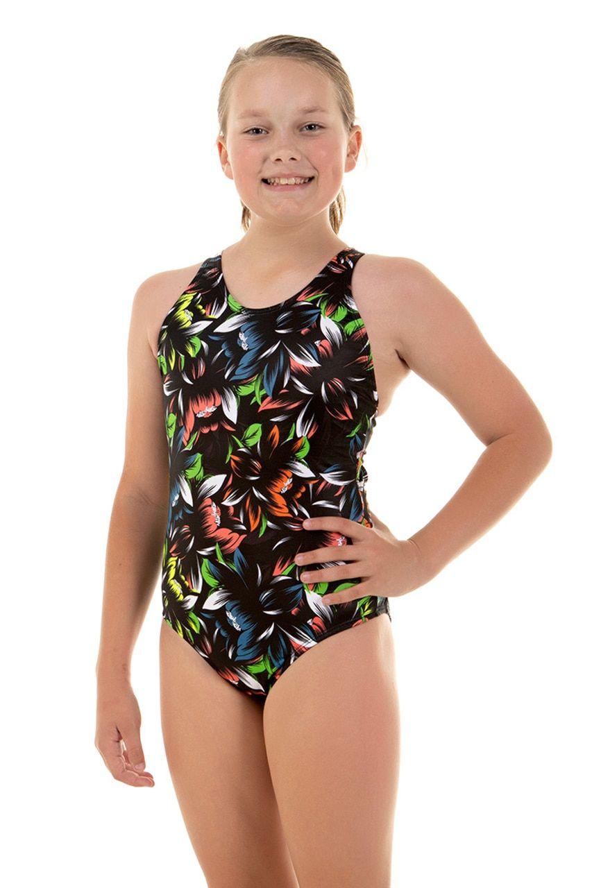 dd8d283fecf Girls Sport Back Bouquet One Piece Chlorine Resistant Swimsuit ...