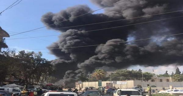 النيران تزحف على الأرض مثل الوحش وتطارد الأهالي انفجار مرعب في عفرين فيديو Outdoor Clouds Train