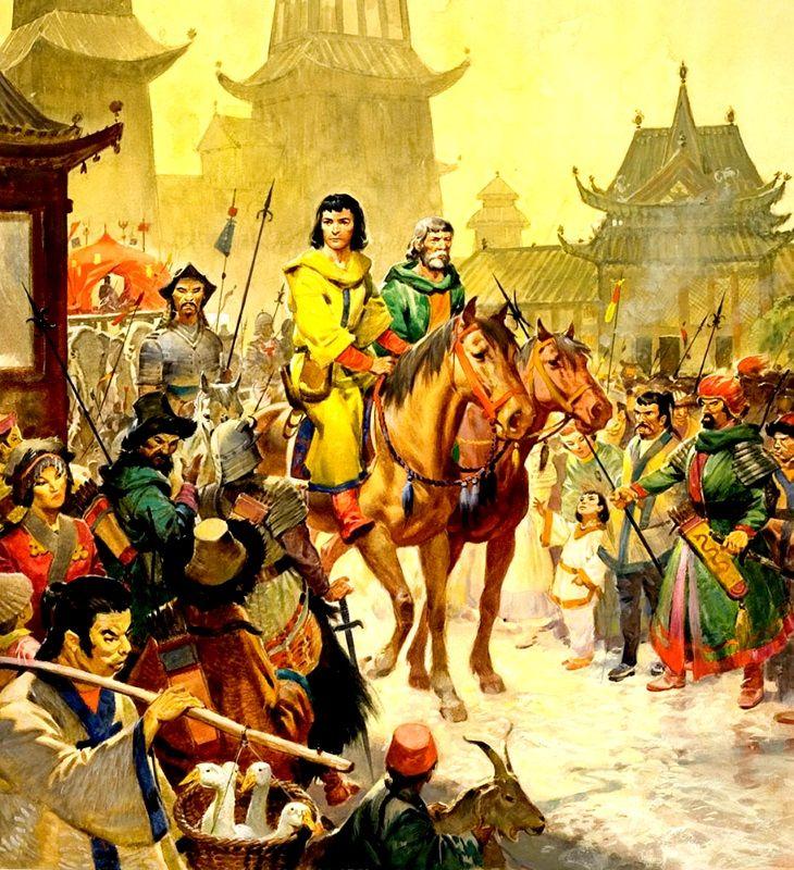 Recreación de la entrada de los hermanos Polo y Marco en la ciudad ...