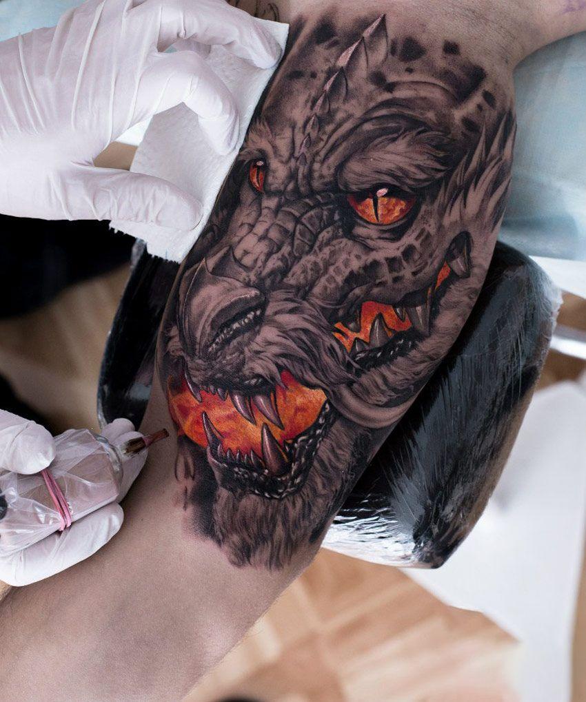 Dragon bicep tattoo dragon tattoo dragontattoo bicep