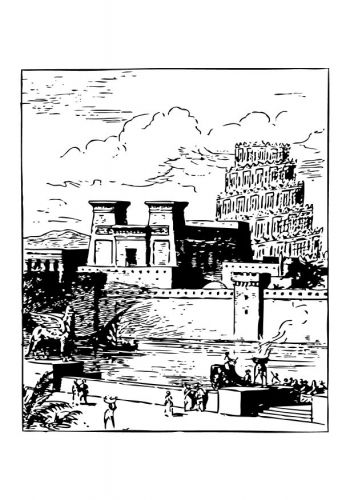 Babylon Secret garden coloring book, Coloring pages