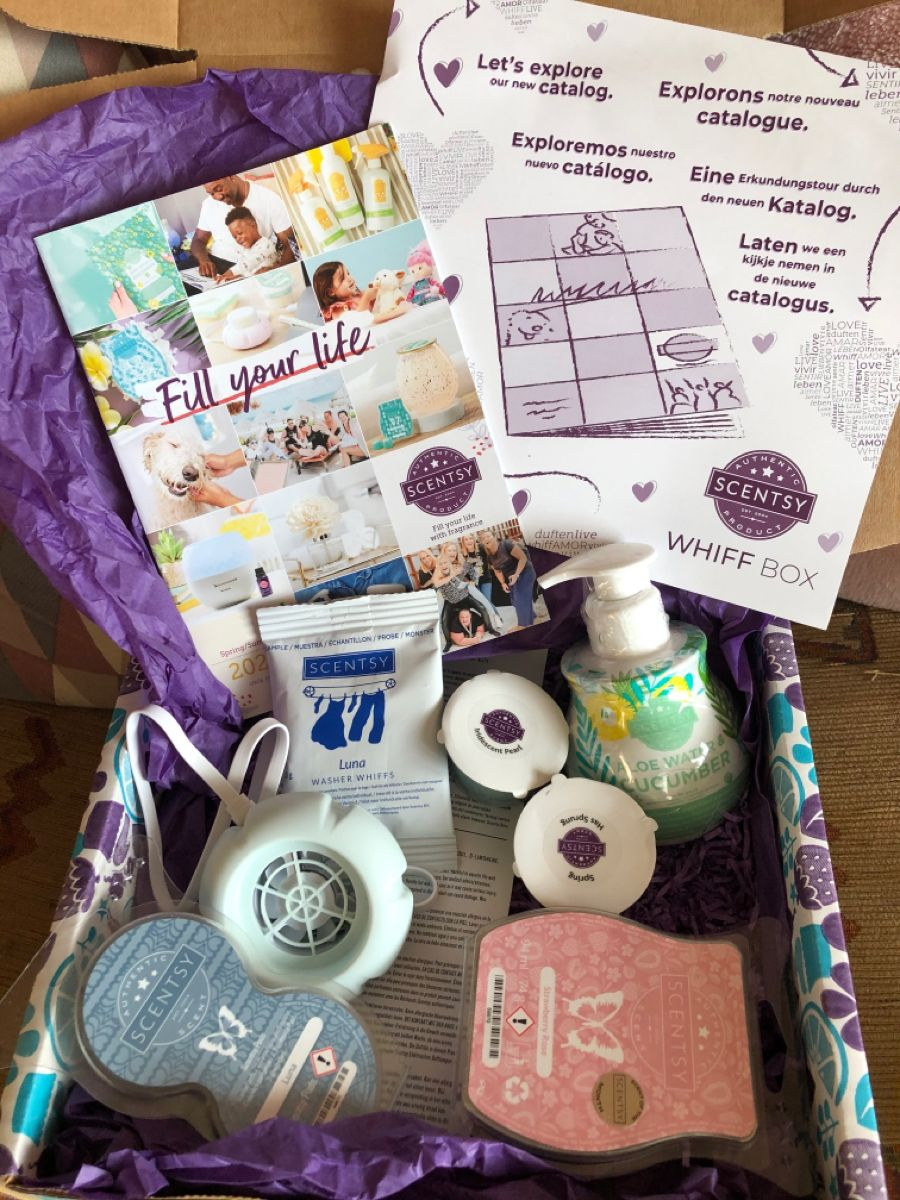 This is Scentsy WhiffBox February 2020 in 2020 Scentsy