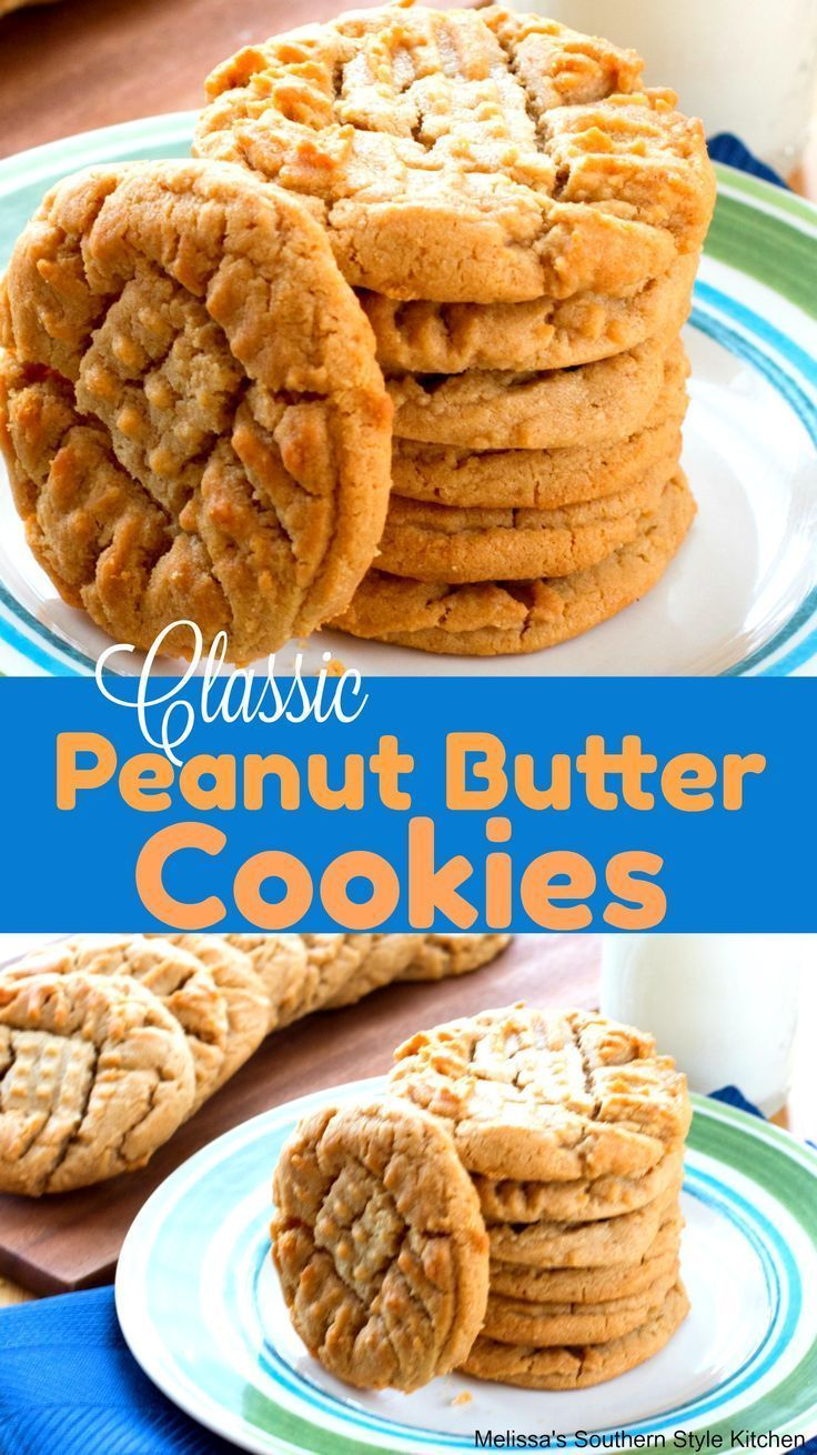 Classic Soft Peanut Butter Cookies   - Food -