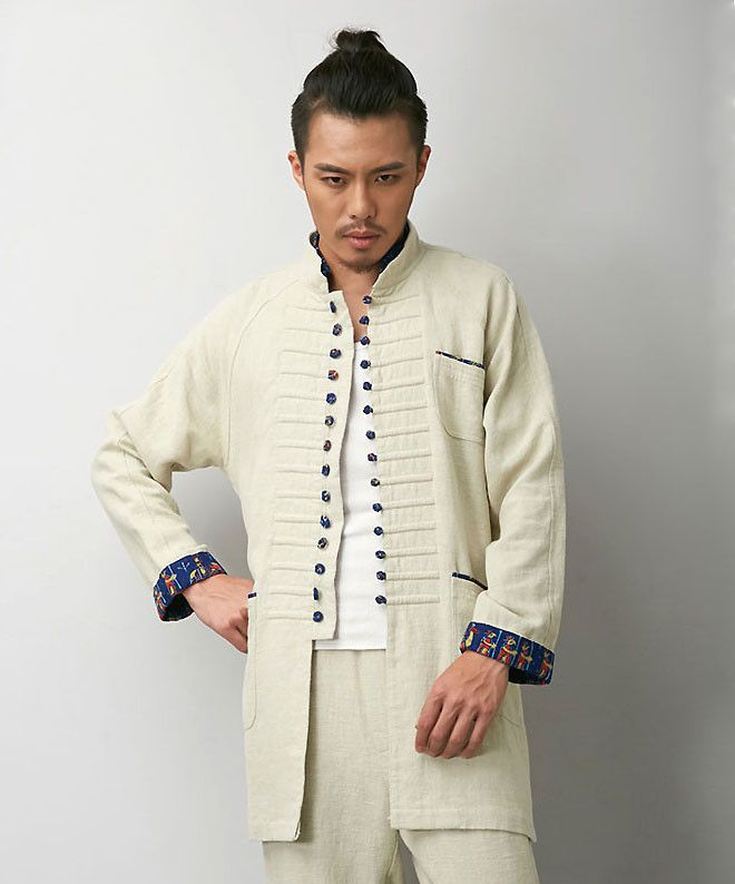 51a8bbdd3f5 Progressive Chinese White Tai Chi Jacket | Fashion | Jackets, Kung ...