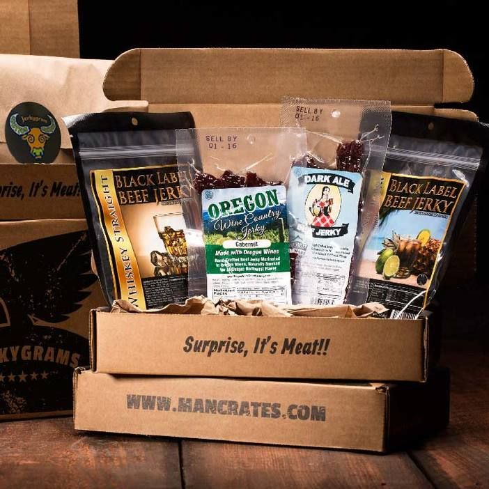 Booze-Infused Jerkygram Gift and Christmas gifts